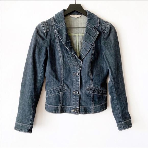 CAbi Jackets & Blazers - Cabi   Fitted Denim Jean Jacket Style 860 S